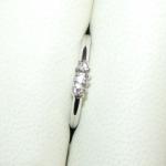 Petite bague or blanc et diamants.