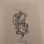 Projet du pendentif, dessiné par le client.