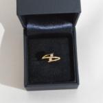 Voici une énième configuration du classique toi et moi en or jaune et diamants.